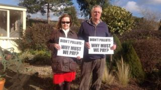 Residents Julie Hinchliffe and Peter Taylor