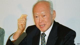 Lee Kuan Yew in San Francisco 9 March 2000