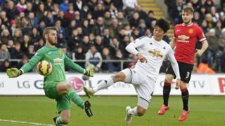 The incident happened after Ki Sung-Yueng scored Swansea's first goal