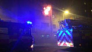 Fire in Glasgow