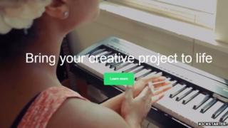 Kickstarter website - woman playing the piano