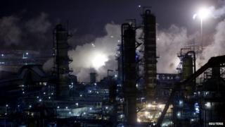 A general view of the Bashneft-Ufaneftekhim oil refinery outside Ufa, Bashkortostan, Russia