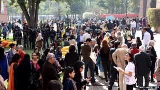 Crowds at the Lahore Literary Festival