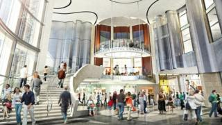 Artists impression of new atrium