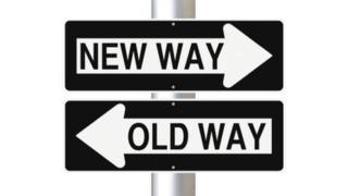 Sign showing change of direction