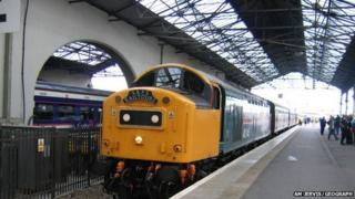 Train at Inverness Station