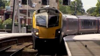 First Hull Trains approaching platform