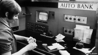 "1969 image of an ""auto bank"""