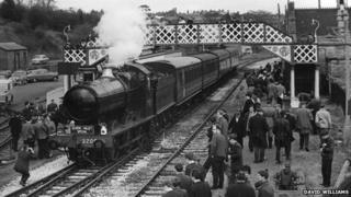 Steam locomotives at Bridgnorth station in 1967