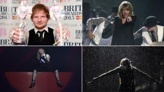 Performers and winners at the Brit Awards