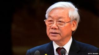 Vietnamese Communist Party chief Nguyen Phu Trong