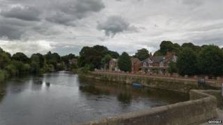 The River Wye in Hereford