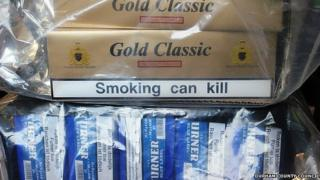 Cigarettes seized from ice cream van