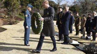 Prince William at Yokohama War Cemetery