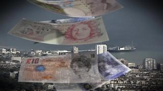 Graphic showing Brighton and Hove and bank notes
