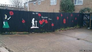 Mural on garden fence