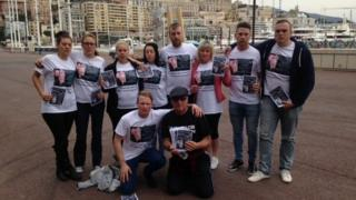 Michael Graydon's family in Monaco