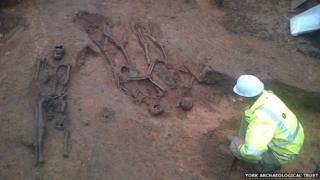 Medieval skeletons in York