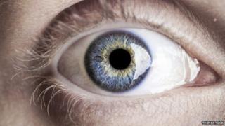 A close up of an eye
