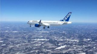 Bombardier CS300 jet