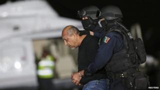 Servando La Tuta Gomez after his arrest in Mexico City, 27 Feb 2015