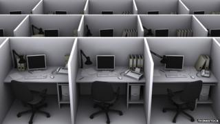 Computer office cubicles