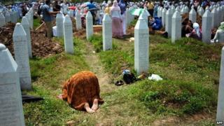Burials at Srebrenica in 2010