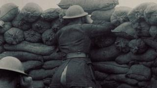 Soldier in a trench