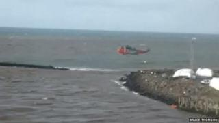 Ayr harbour rescue