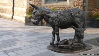 Computer-generated image of the proposed donkey statue in Market Square