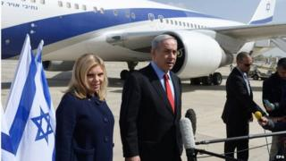 Benjamin Netanyahu and his wife Sarah (01/03/15)
