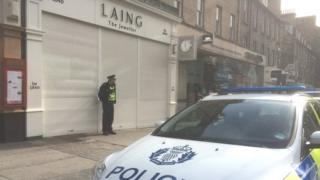 Laing the jewellers in Frederick Street Pic: Brian Innes