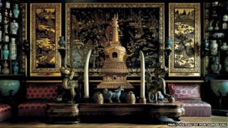An overview of the Empress' Chinese Museum, Fontainebleau Castle
