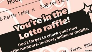 Lotto raffle ticket