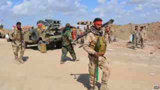 Iraqi government forces in northern part of Diyala province, bordering Salaheddin province. 2 March 2015