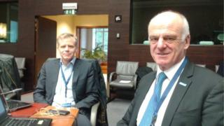 UN Special Envoy on Ebola David Nabarro and Dr Bruce Aylward of WHO