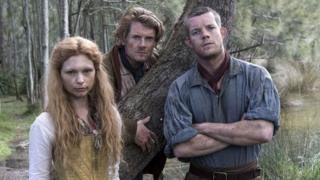 Myanna Buring, Julian Rhind-Tutt and Russell Tovey in Banished