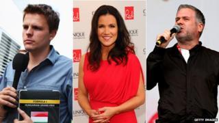Jake Humphrey, Susanna Reid, Chris Moyles