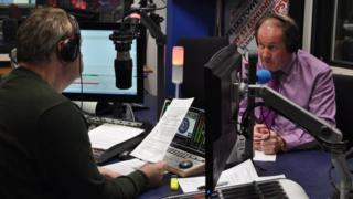 Mark Murphy and Tim Passmore at BBC Radio Suffolk