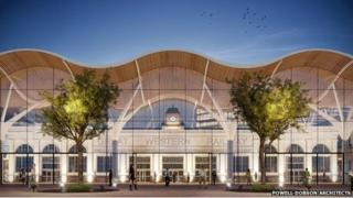artists impression Cardiff central station