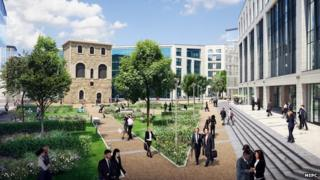 An artist's impression of Tower Square