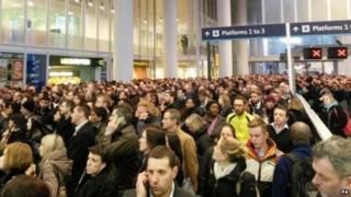 Scene of overcrowding in January 2015