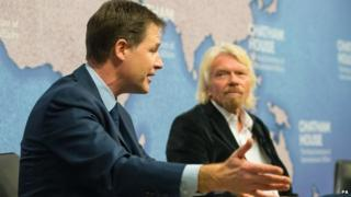 Nick Clegg and Richard Branson