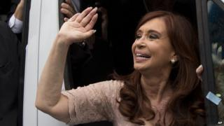 President Cristina Fernandez leaves Congress, March 1st 2015