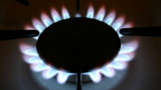 Gas ring on cooker