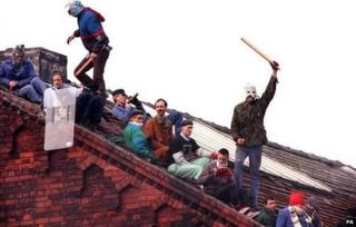 Prisoners on the roof