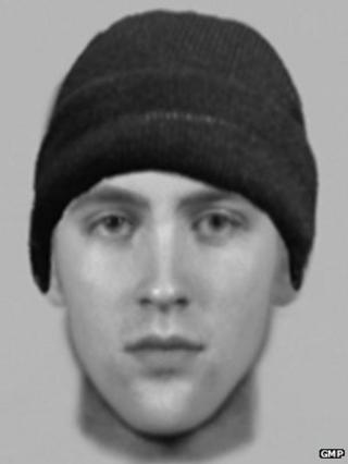 Digital image of burglar