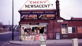 Emeny Newsagent, Grimwade Street, Ipswich, 1960s