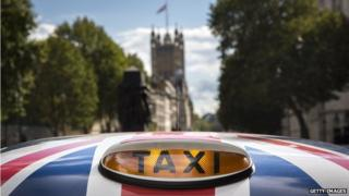 Taxi at Westminster