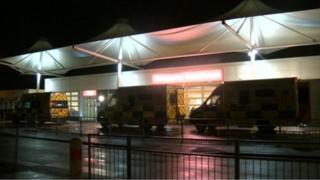 Ambulances outside Royal Preston Hospital's A&E department